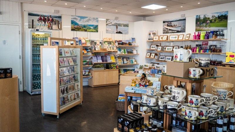 Inside Gift Shop inBowness-On-Windermere in the Lake District, UK