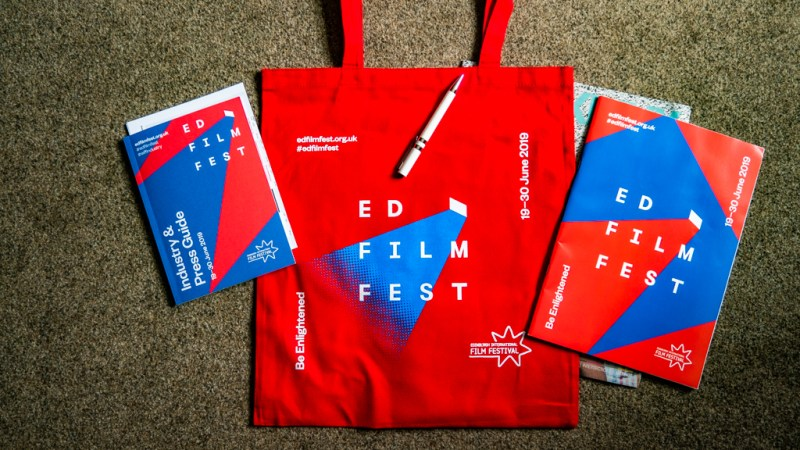 Edinburgh International Film Festival 2019 Press Accreditation swag bag in Edinburgh, UK