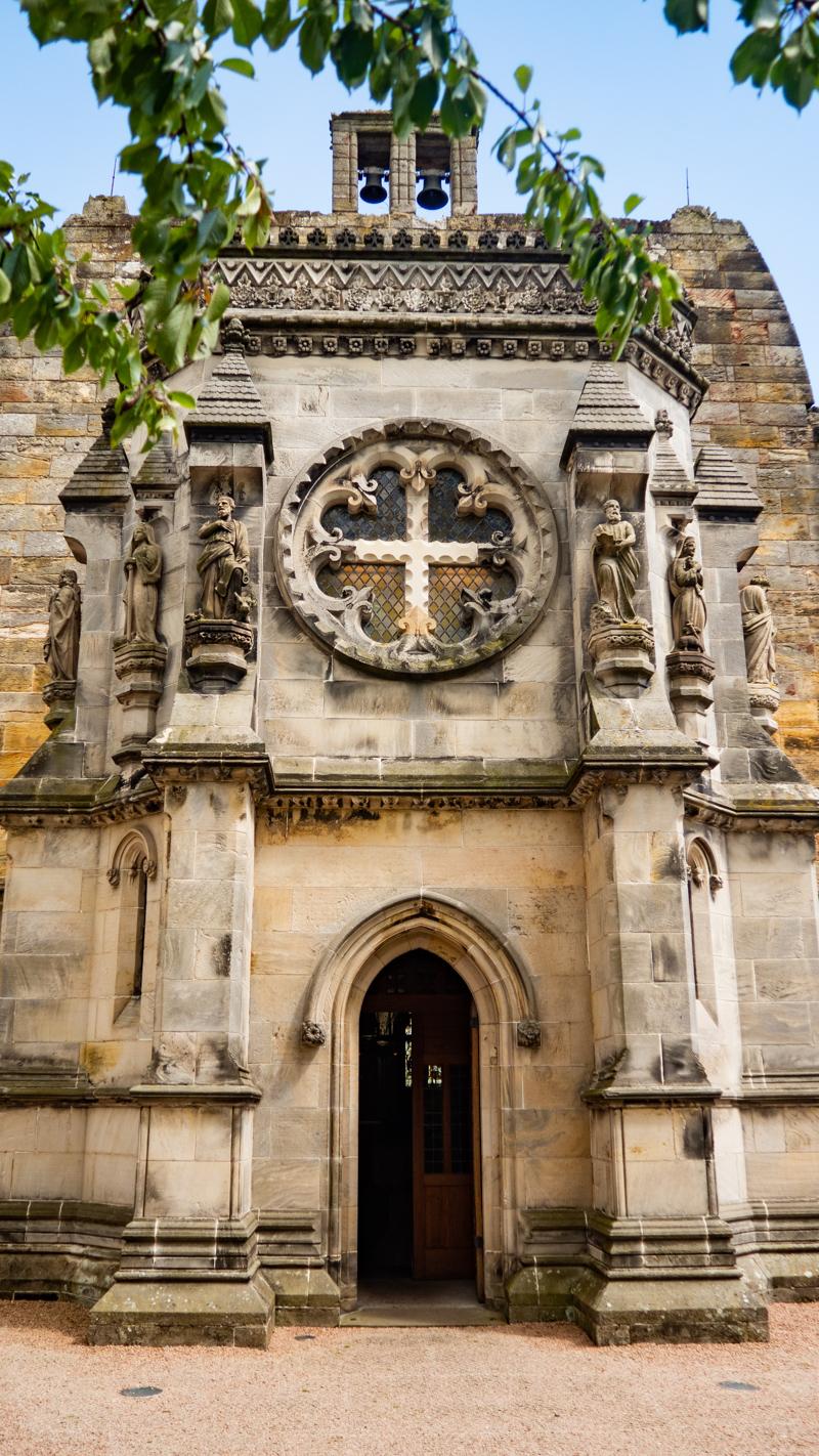 Newest part of Rosslyn Chapel in Edinburgh, UK