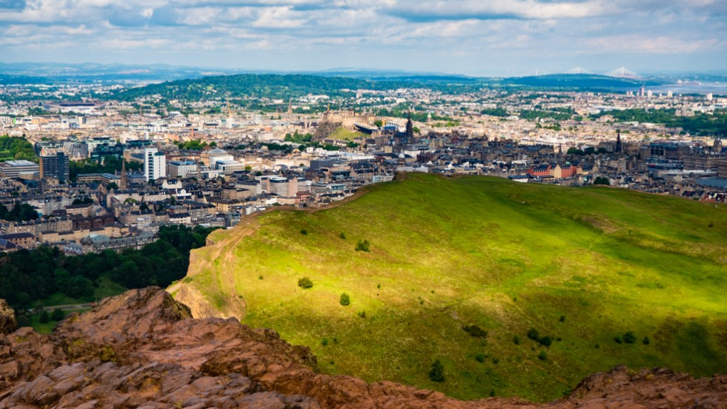 The view from the top of Arthur's Seat in Edinburgh   3 Days in Edinburgh