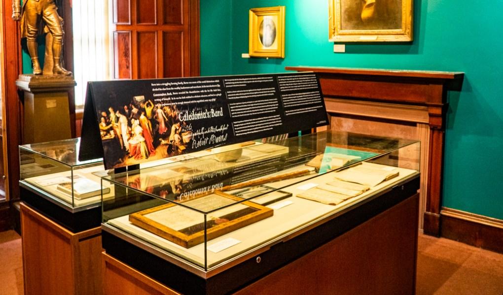Exhibit at The Writers' Museum in Edinburgh