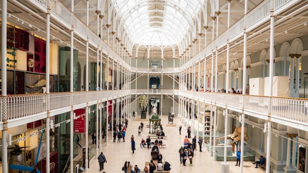 Inside the National Museum of Scotland in Edinburgh