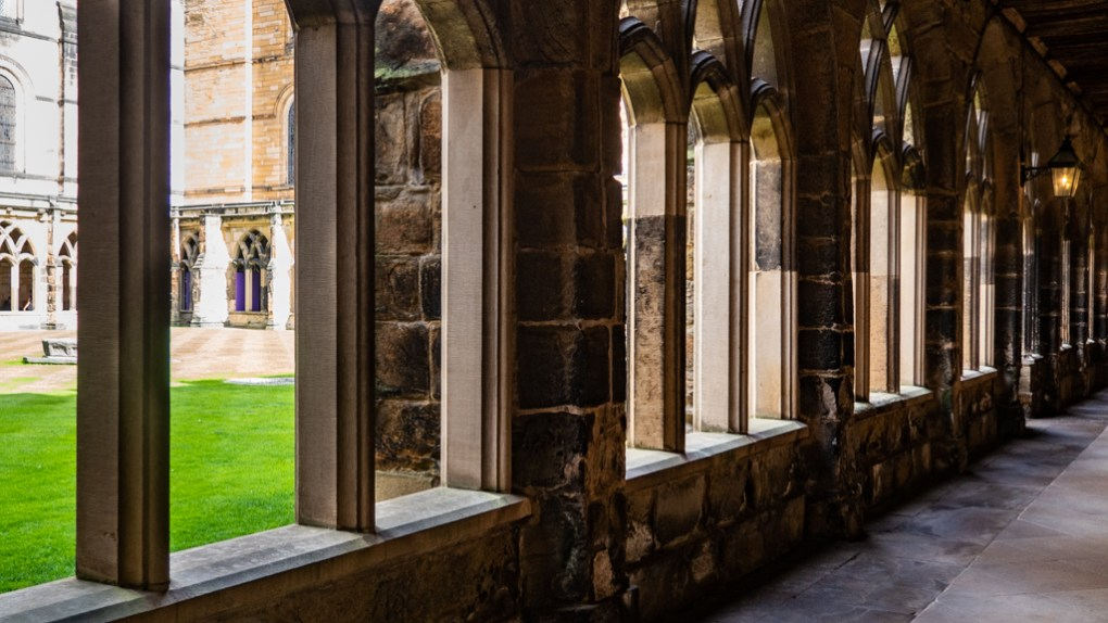 The Cloister in Durham Cathedral, a Harry Potter Filming Location in North East England