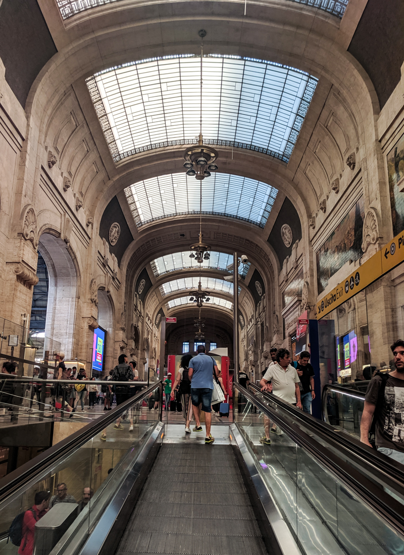 Inside Milan Central Station
