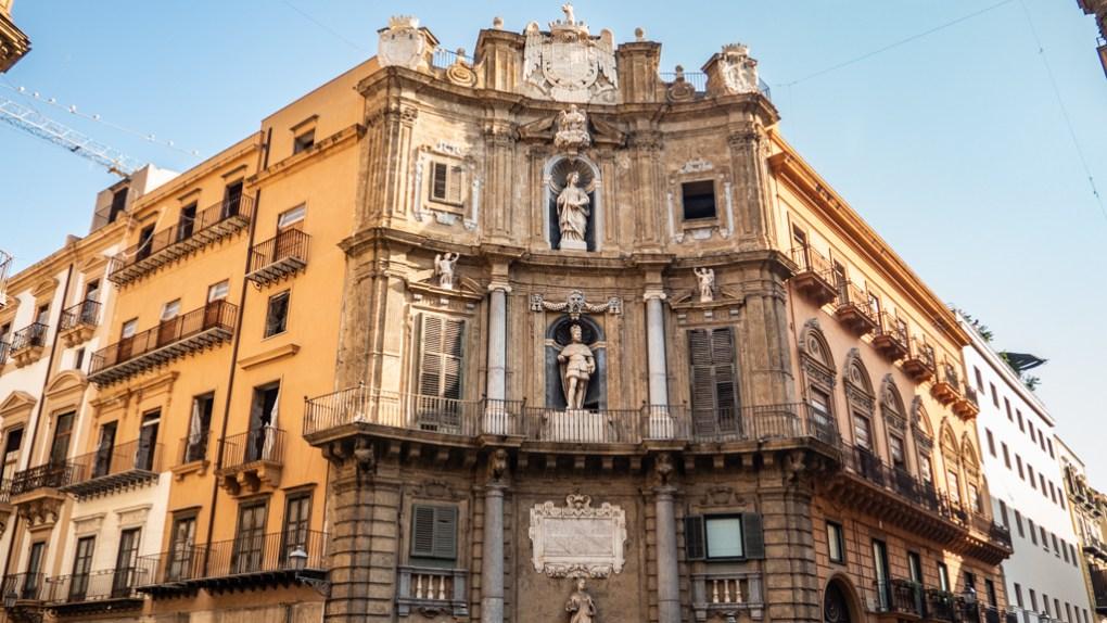 Quattro Canti in Palermo, Sicily | 48 Hours in Palermo, Sicily Travel Guide