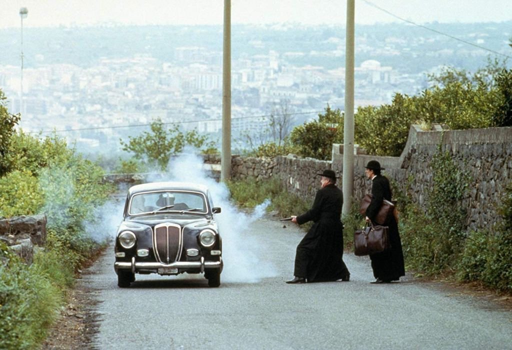 Strada Provinciale 78 near Madonna del Carmine Church, one of The Godfather filming locations in Sicily