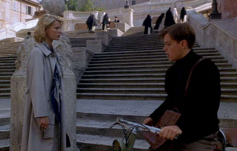 Marge and Tom at the Spanish Steps, one of The Talented Me Ripley filming locations