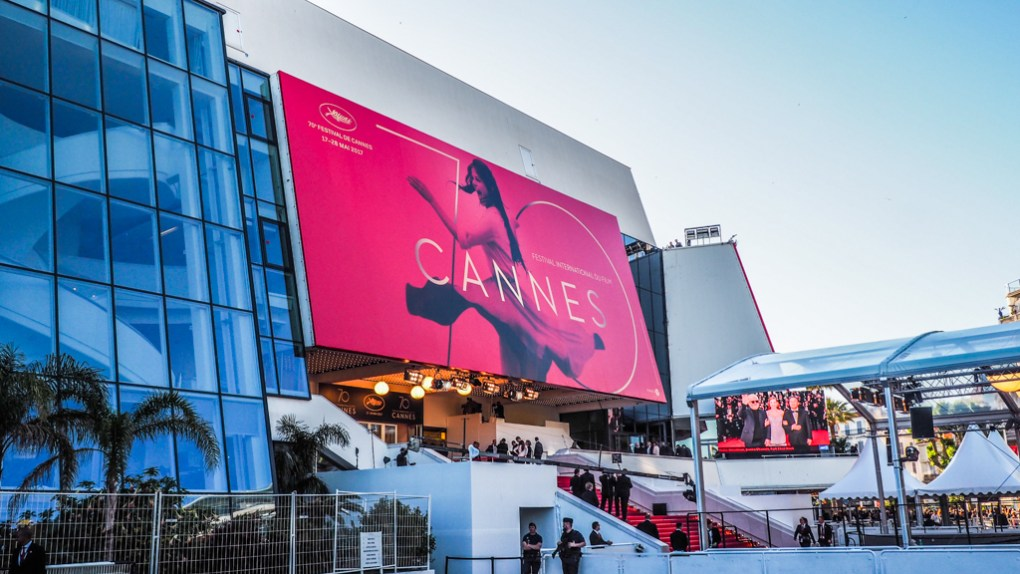 Theatre Lumiere during Cannes Film Festival 2017 in France