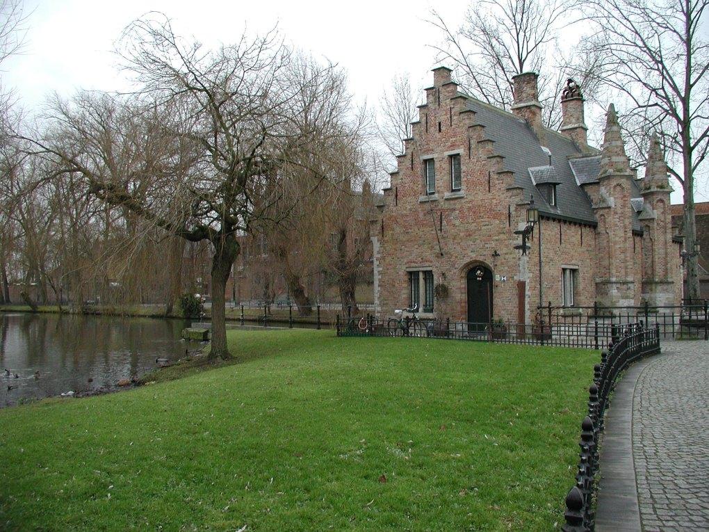 Minnewaterpark in Bruges, Belgium