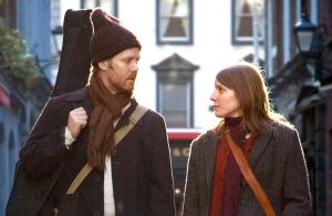 Guy and Girl in Once, a movie shot in Dublin, Ireland