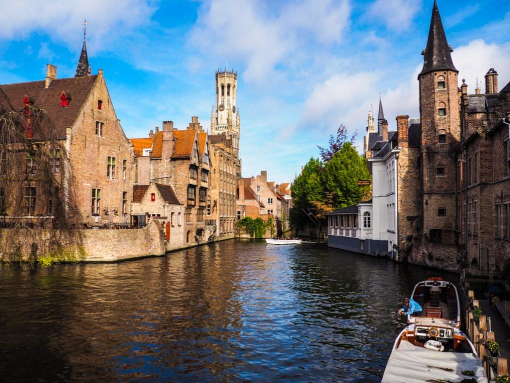 Rozenhoedkaai photo point in Bruges, Belgium