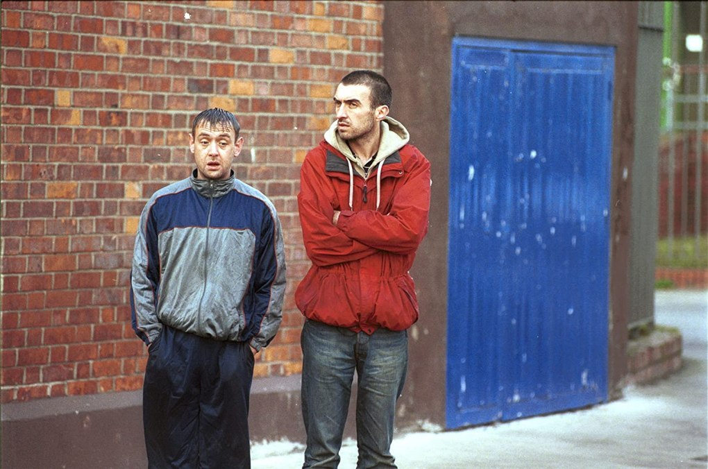 Film still from Adam & Paul, a film set in Dublin, Ireland
