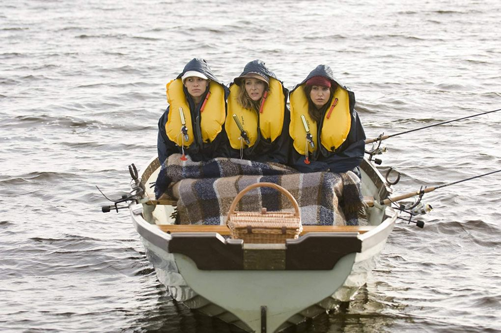 Denise, Holly and Sharon fishing in Blessington Lakes in County Wicklow, Ireland | P.S. I Love You Filming Locations