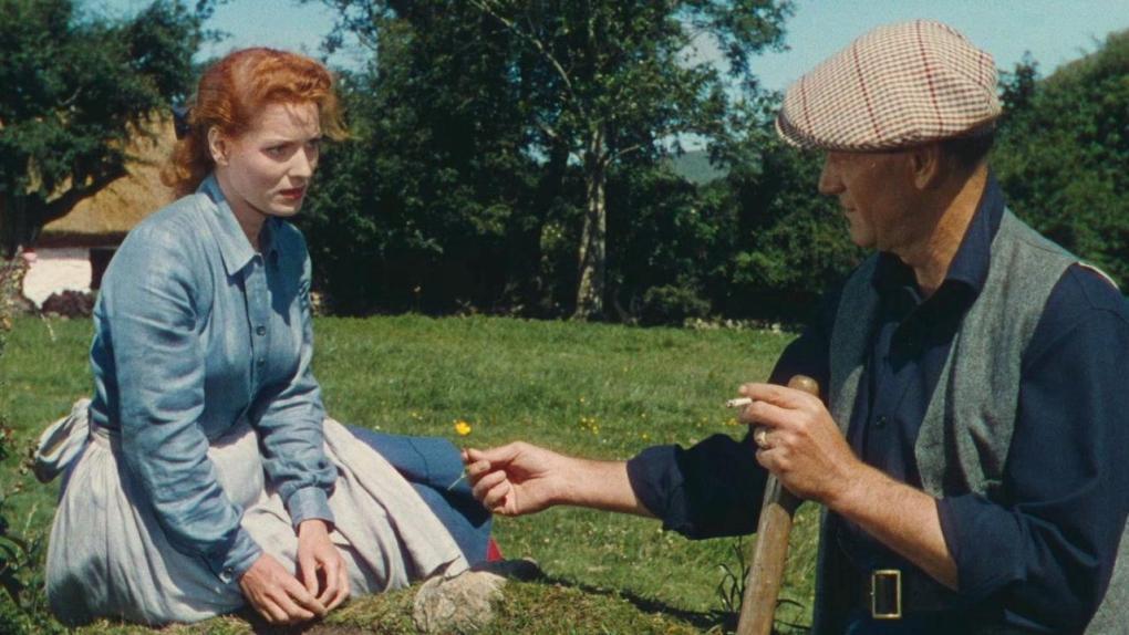 Film still from The Quiet Man, a film set in Ireland