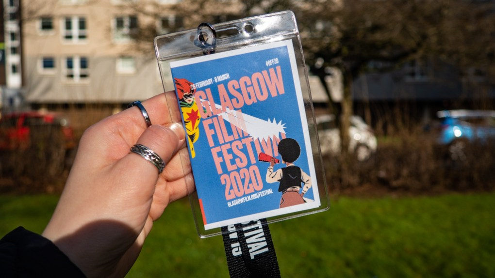 Almost Ginger blog owner's press pass for the Glasgow Film Festival 2020