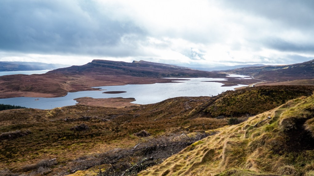 Loch Leathan near The Old Man of Storr on the Isle of Skye, Scotland