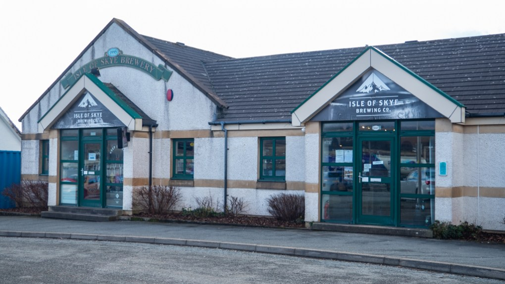 Isle of Skye Brewing Company shop in Uig on the Isle of Skye, Scotland