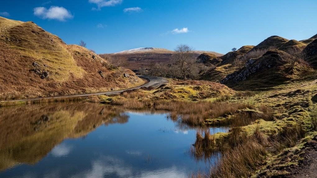 Lochan in The Fairy Glen in Uig on the Isle of Skye, Scotland