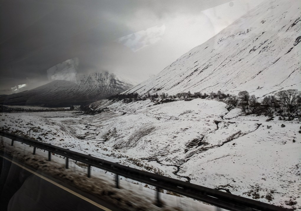 View from Citylink bus journey from Glasgow to the Isle of Skye, Scotland