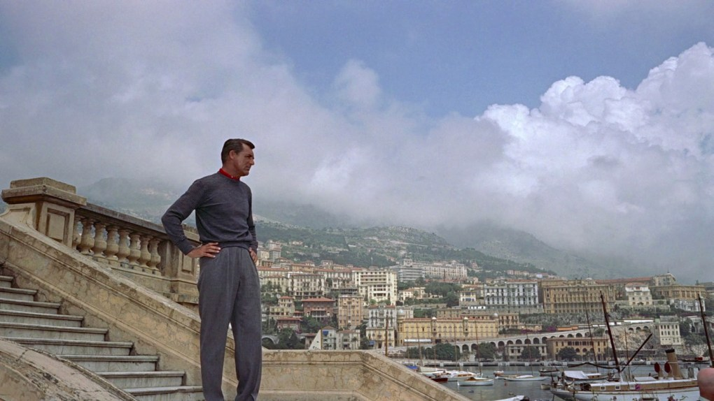 To Catch a Thief (1955) film still of Cary Grant in Monte Carlo Harbour, Monaco