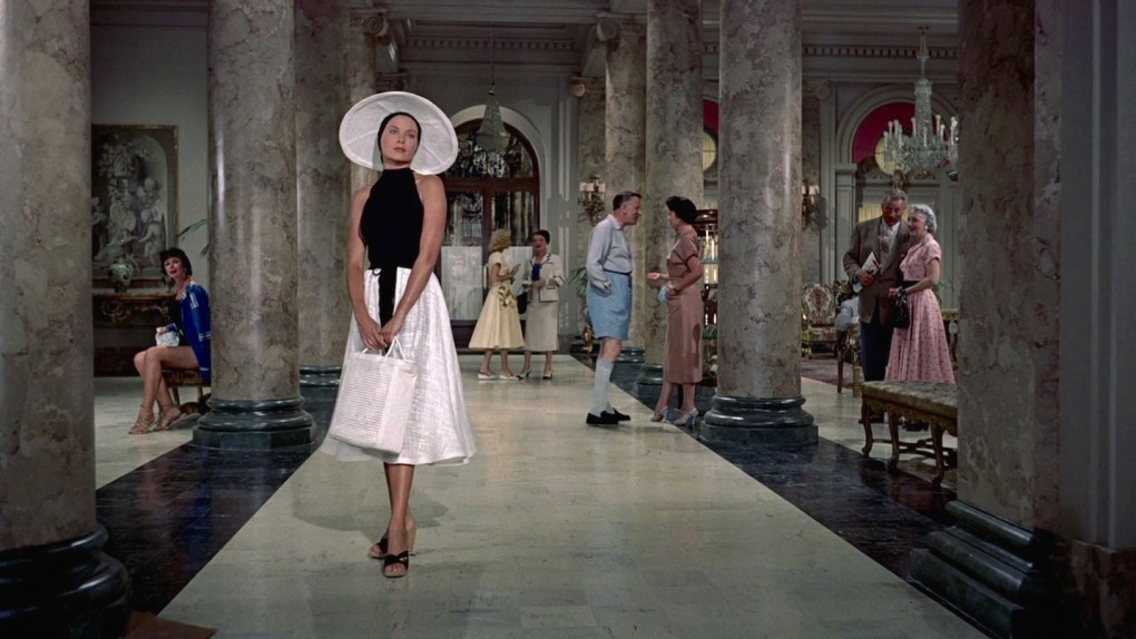 To Catch a Thief (1955) film still of Grace Kelly inside Hotel Carlton in Cannes, France