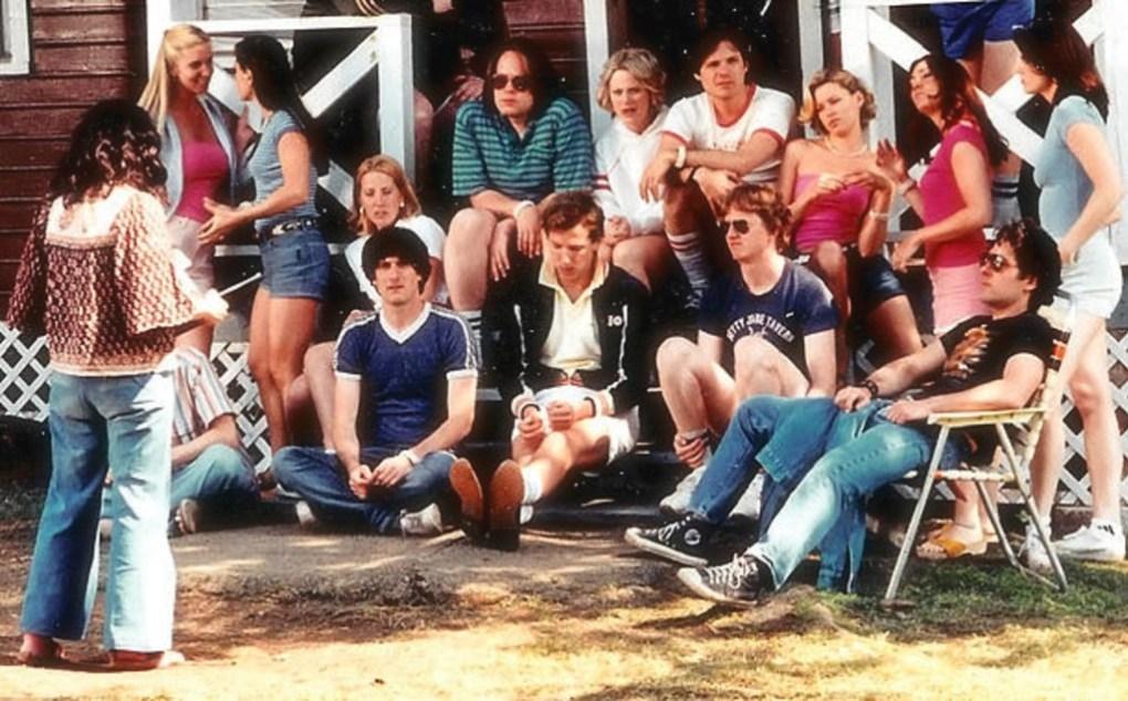 Wet Hot American Summer (2001) film still of the summer camp staff meeting