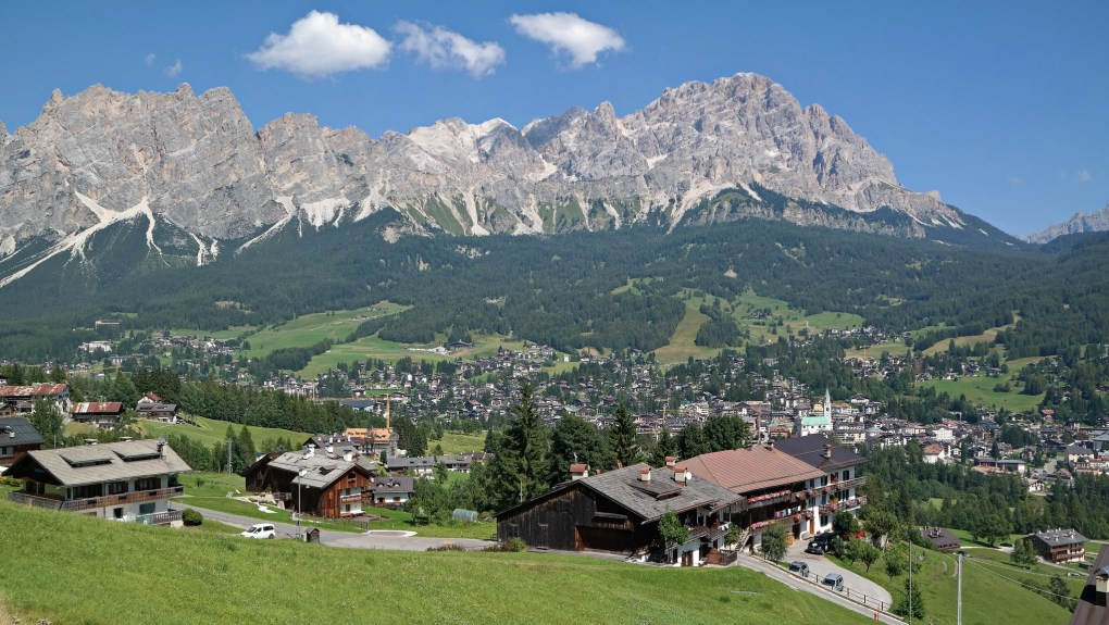 Cortina d'Ampezzo in Northern Italy