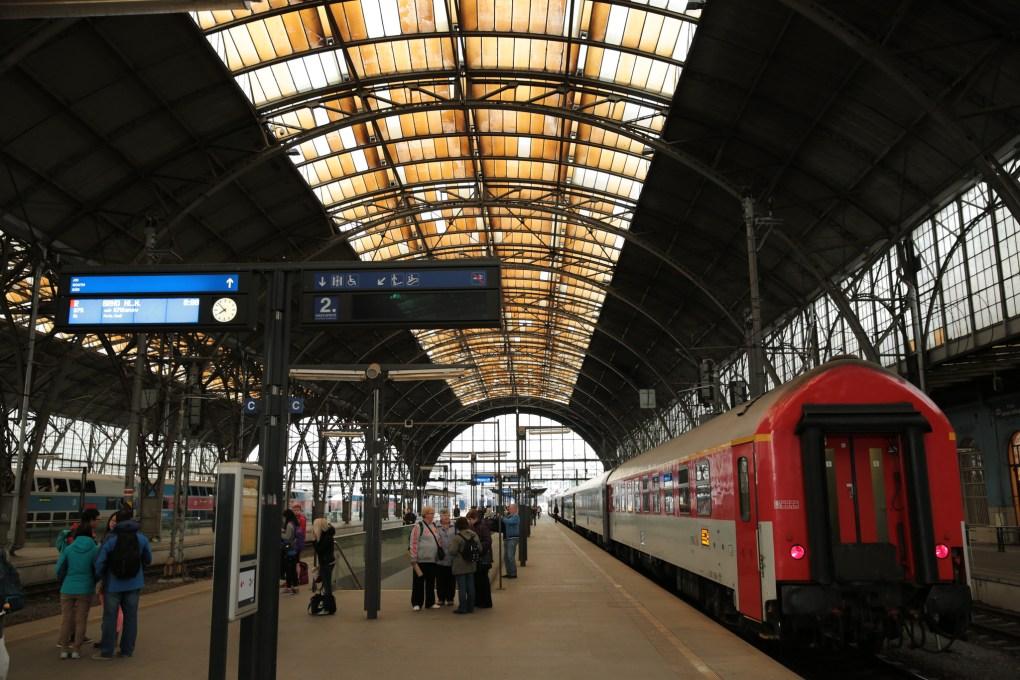 Hlavni Nadrazi Station in Prague, Czechia