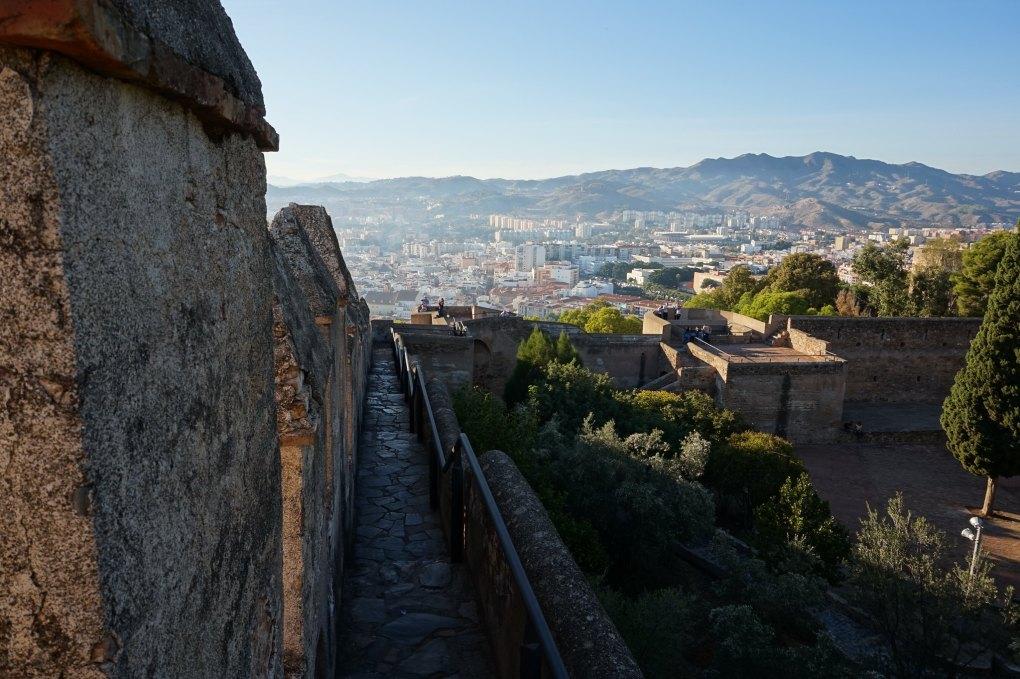 Castillo de Gibralfaro in Málaga, Spain