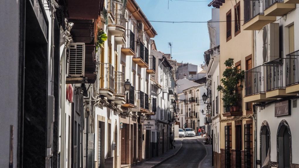 Street in Montefrío, Granada in Spain