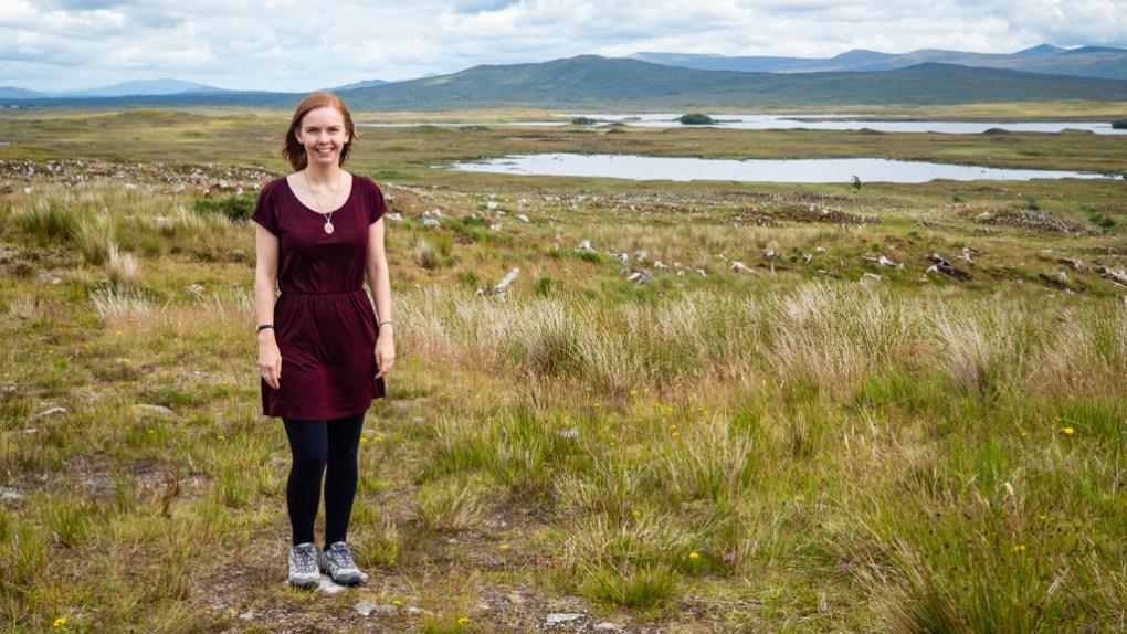 Almost Ginger blog owner at Rannoch Moor, Scotland