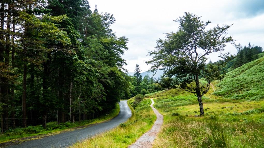 Path up to Clachaig Gully near Glen Coe, Scotland