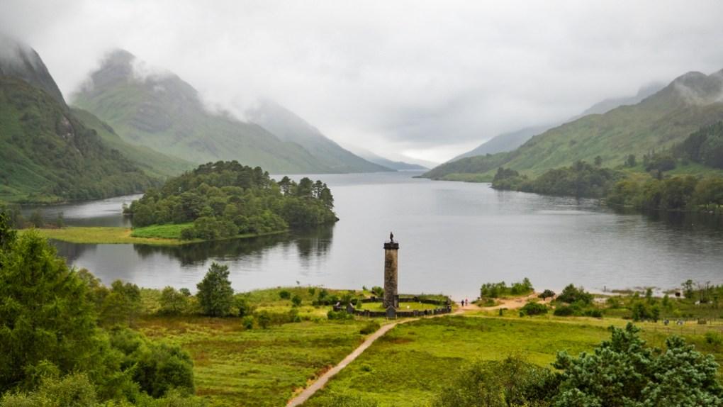 Loch Shiel from Glenfinnan Viewpoint, a Harry Potter Filming Location in Scotland