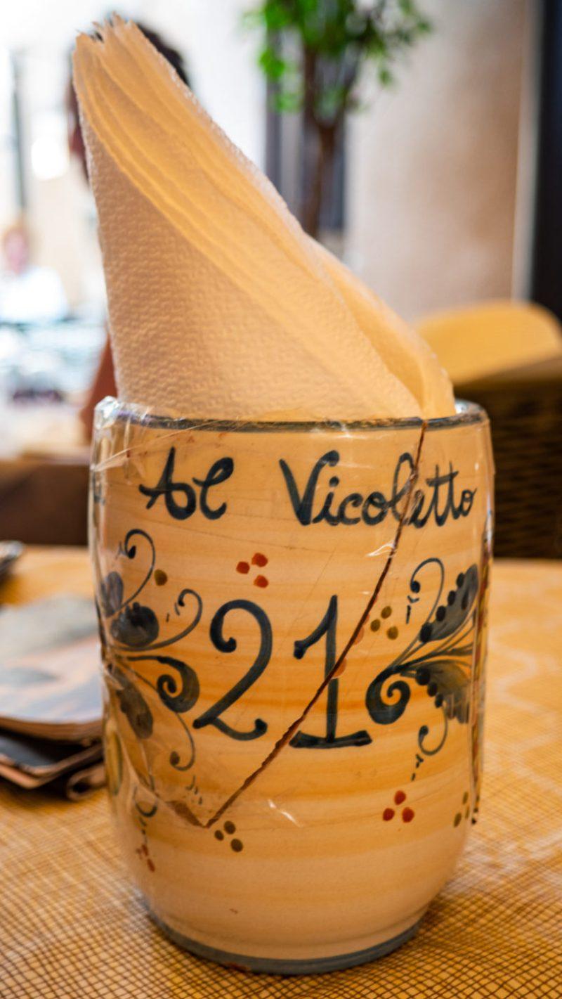 Al Vicoletto restaurant inCefalù, Sicily