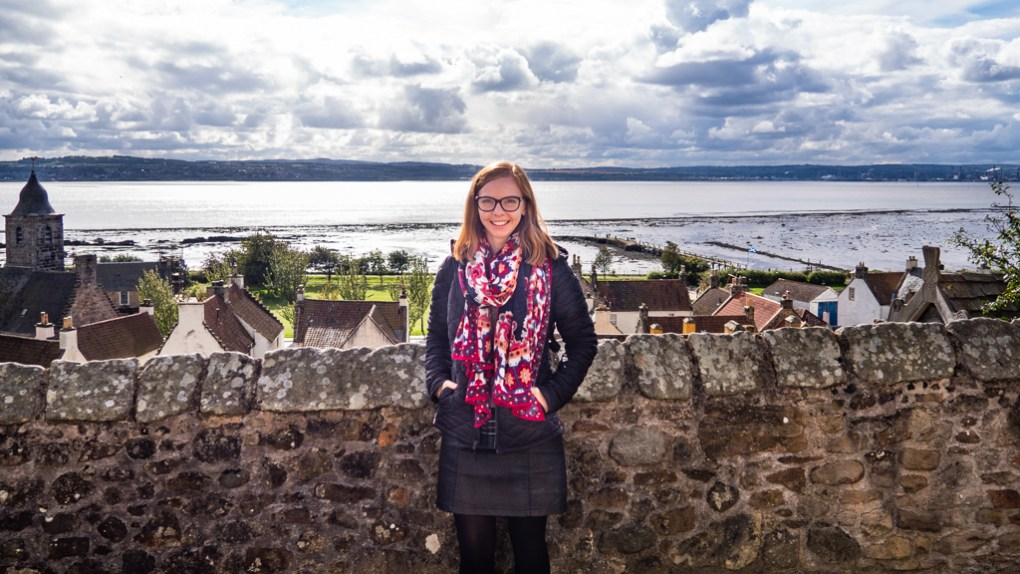 Almost Ginger blog owner in Culross, Scotland