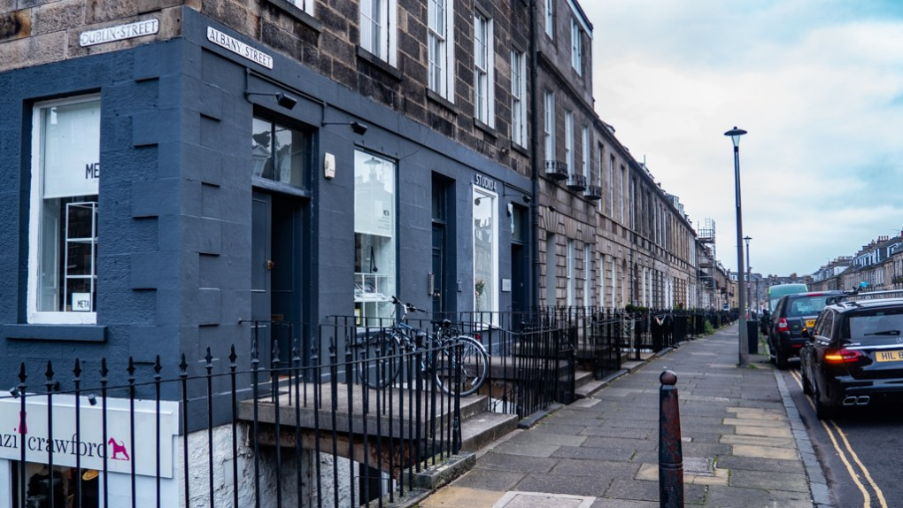 Albany Street in Edinburgh, Scotland Eurovision Song Contest: The Story of Fire Saga Filming Location