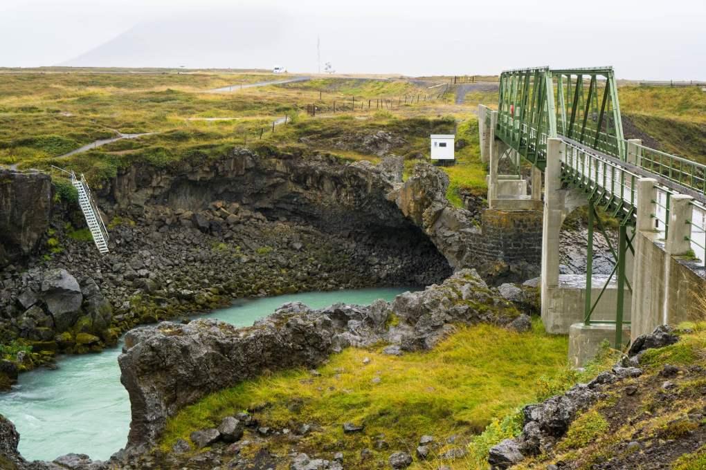Goðafoss Bridge in Iceland
