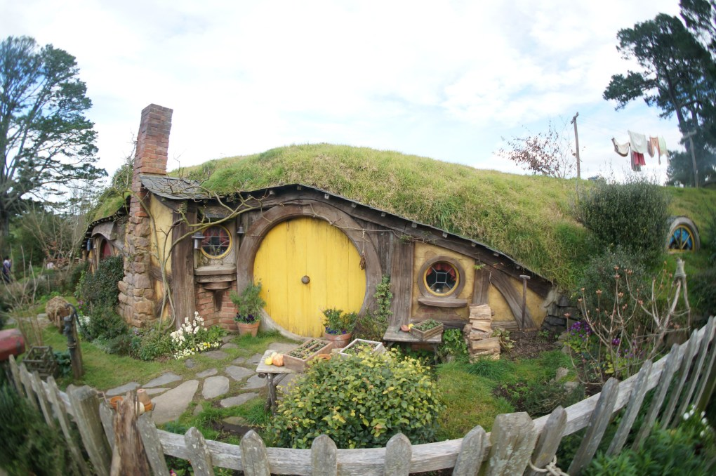 Famous Filming Location Hobbiton in New Zealand