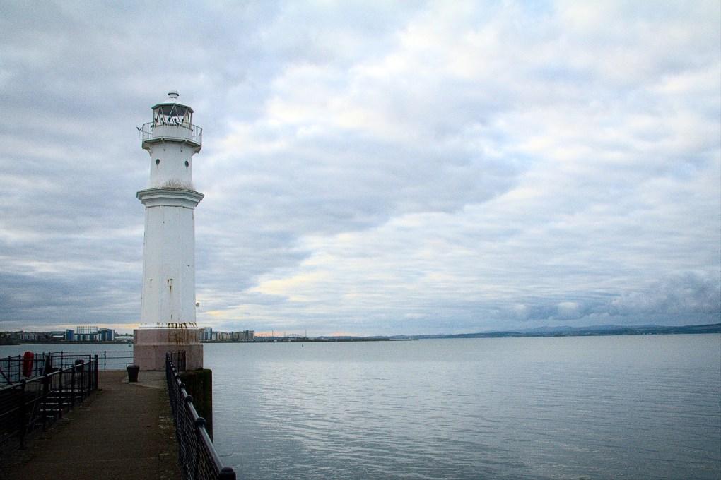 Newhaven Lighthouse in Edinburgh, Scotland