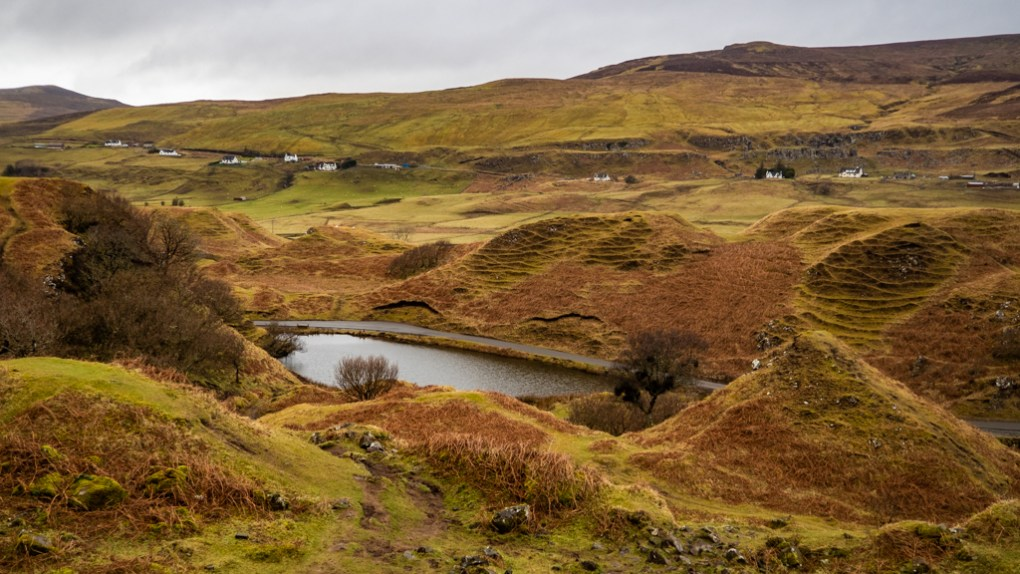 Famous Movie Location The Fairy Glen in the Isle of Skye, Scotland