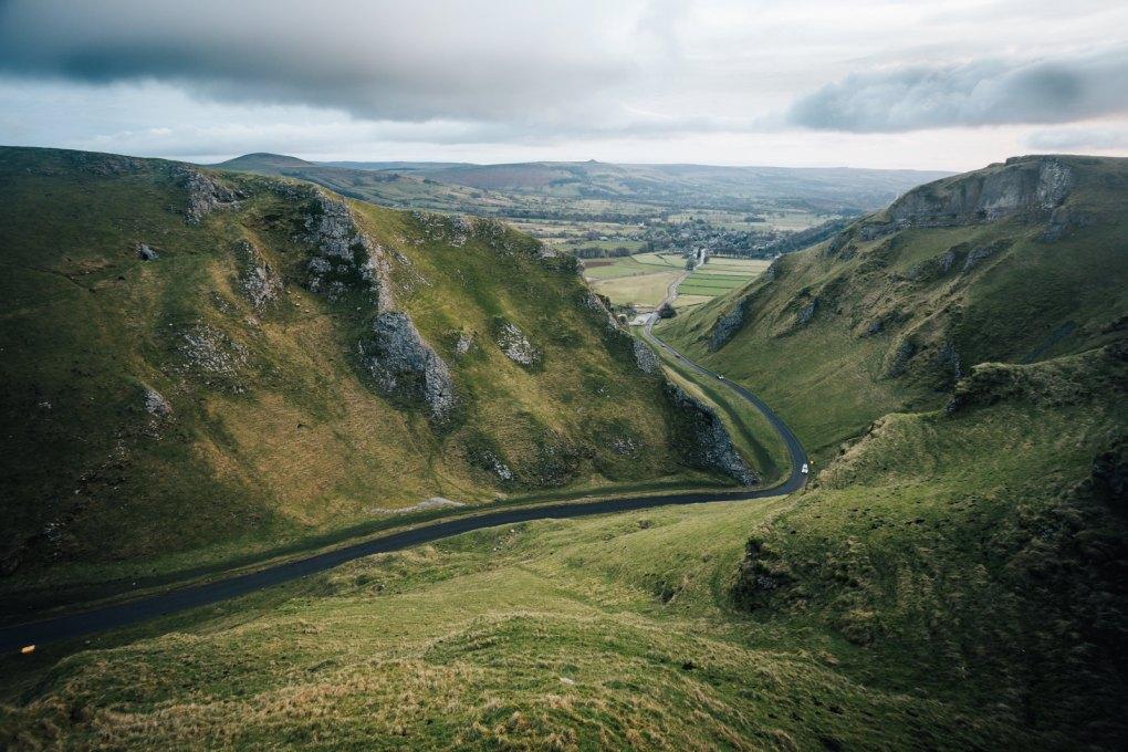 Winnats Pass in the Peak District, England