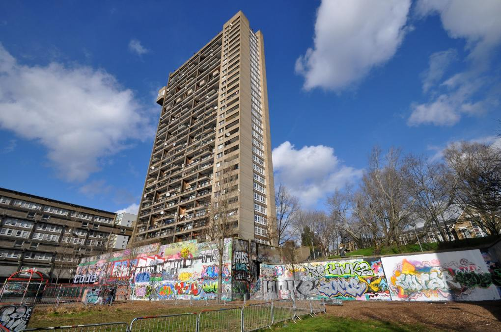 Trellick Tower in Notting Hill, London in England