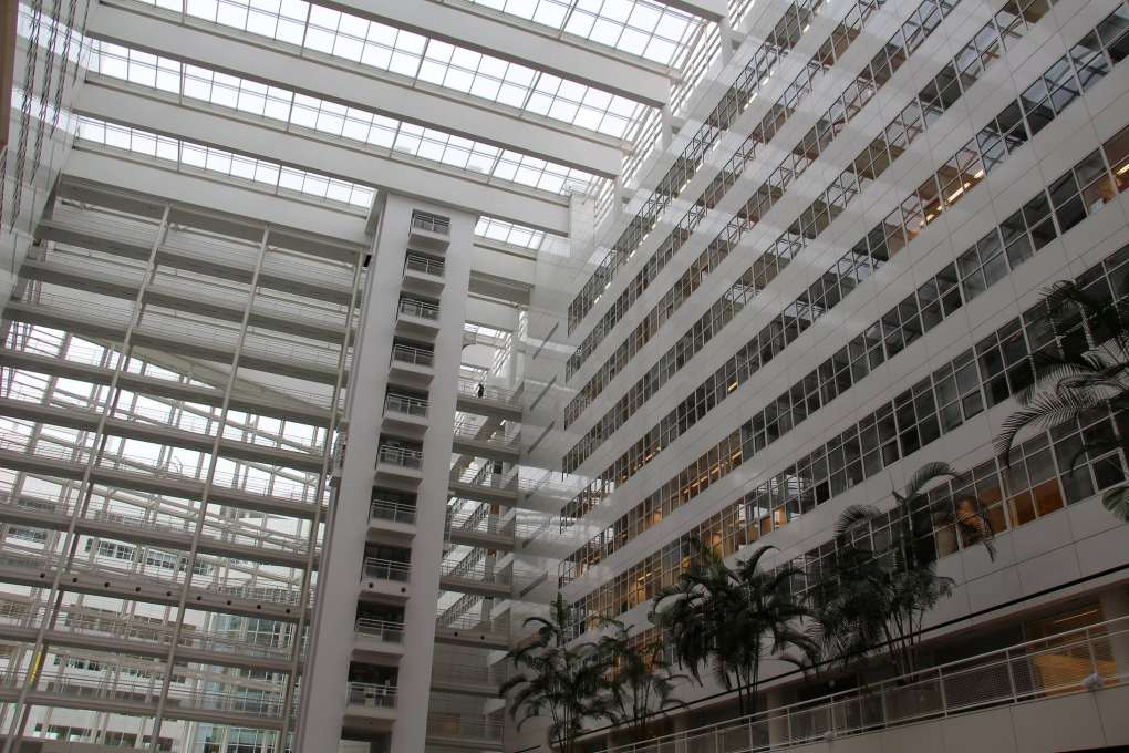 Atrium City Hall in The Hague, the Netherlands
