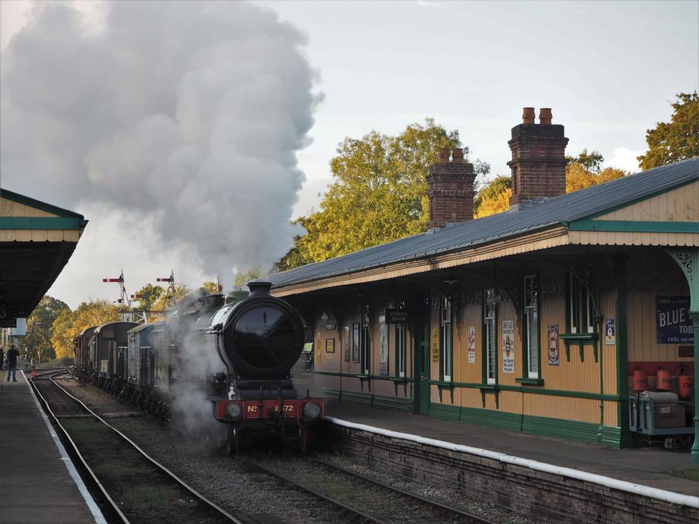 Horsted Keynes Station on the Bluebell Railway in West Sussex, England Beatrix Potter Film Location
