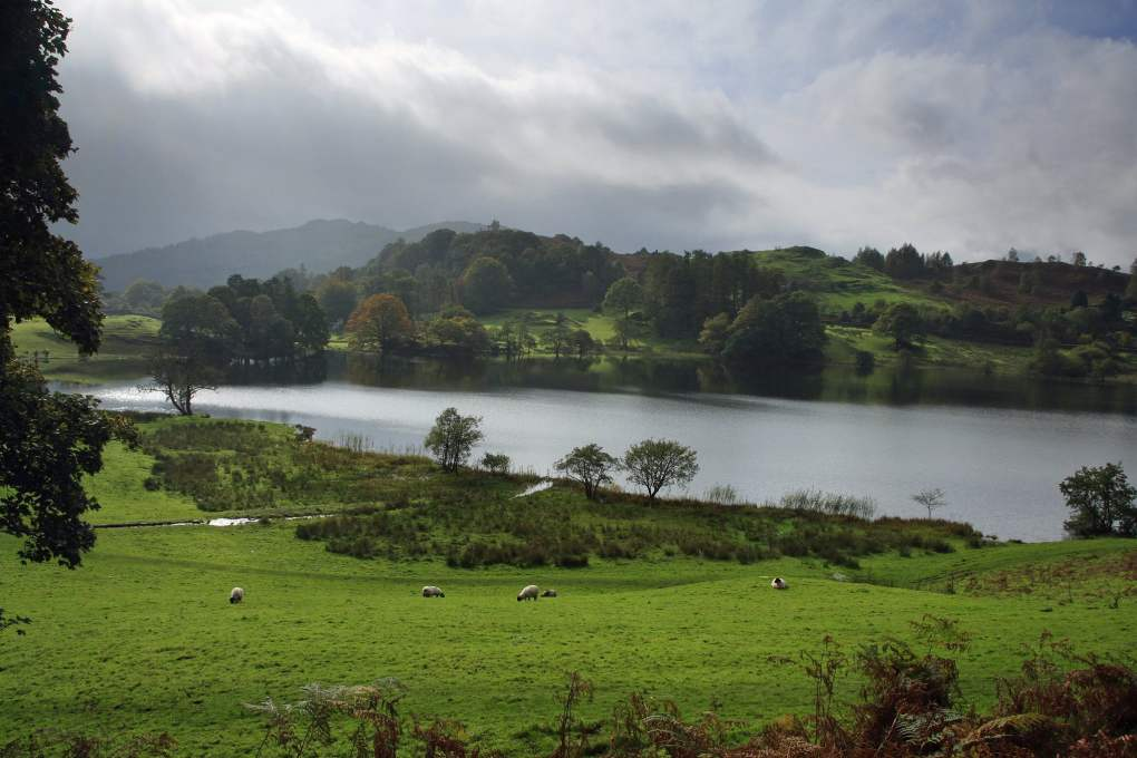 Loughrigg Tarn in the Lake District, England Miss Potter Film Location
