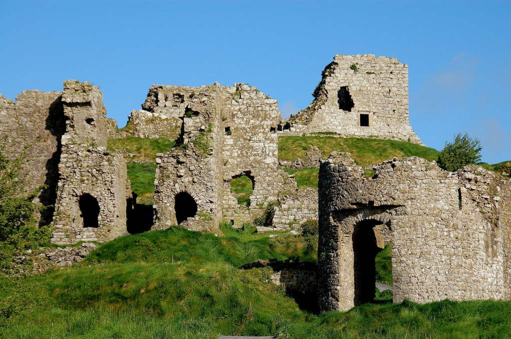 Rock of Dunamase Castle in County Laois, Ireland Leap Year Filming Location