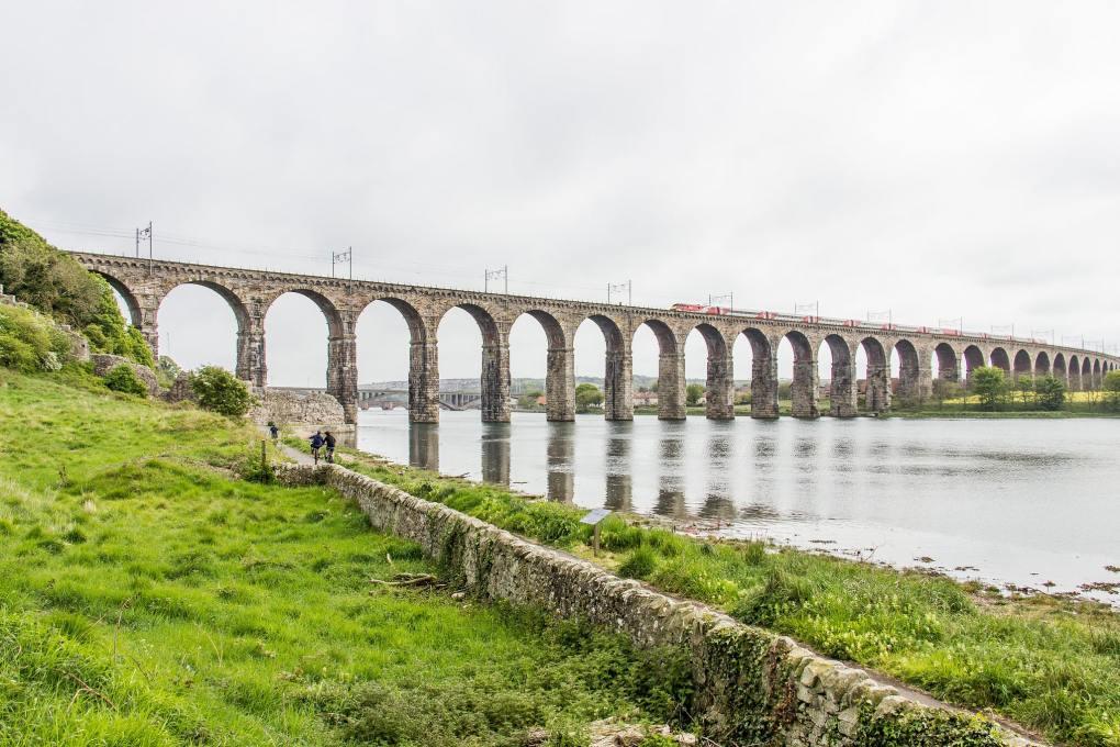 Royal Border Bridge in Berwick-Upon-Tweed, Northumberland in England The Railway Man Filming Location