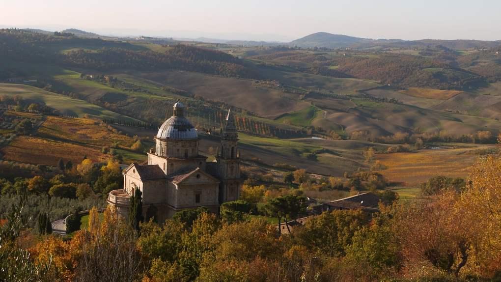 Church of San Biagio in Montepulciano, Italy as seen in Under the Tuscan Sun