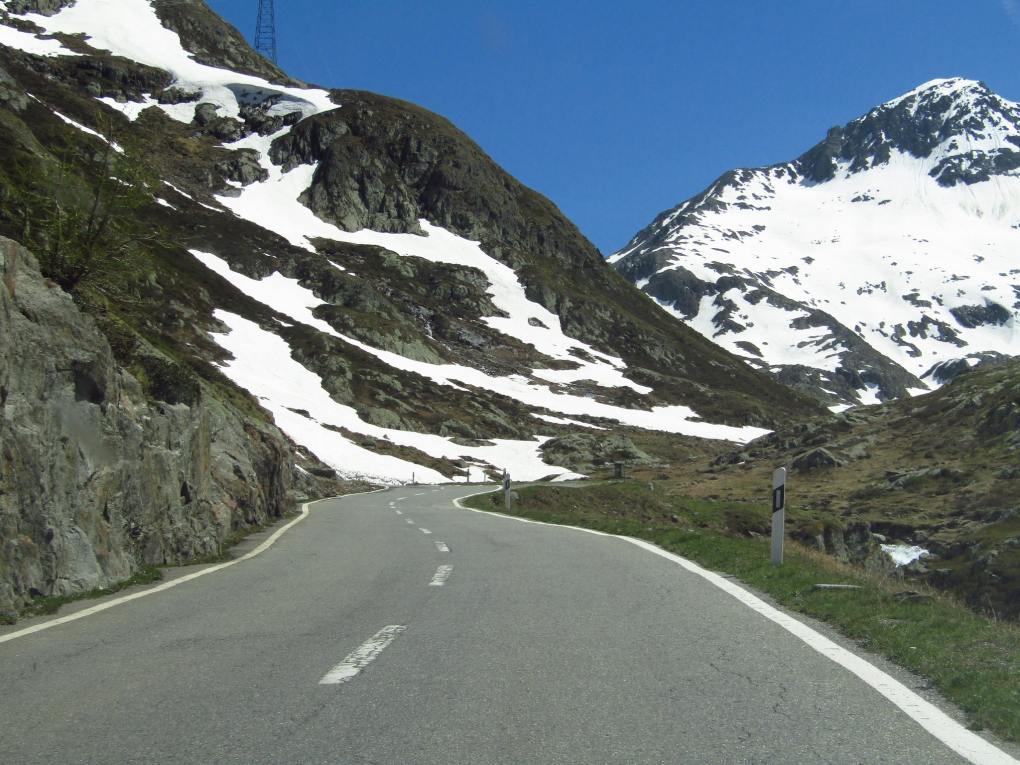 Great St Bernard Pass in the Italian Alps as seen in The Italian Job