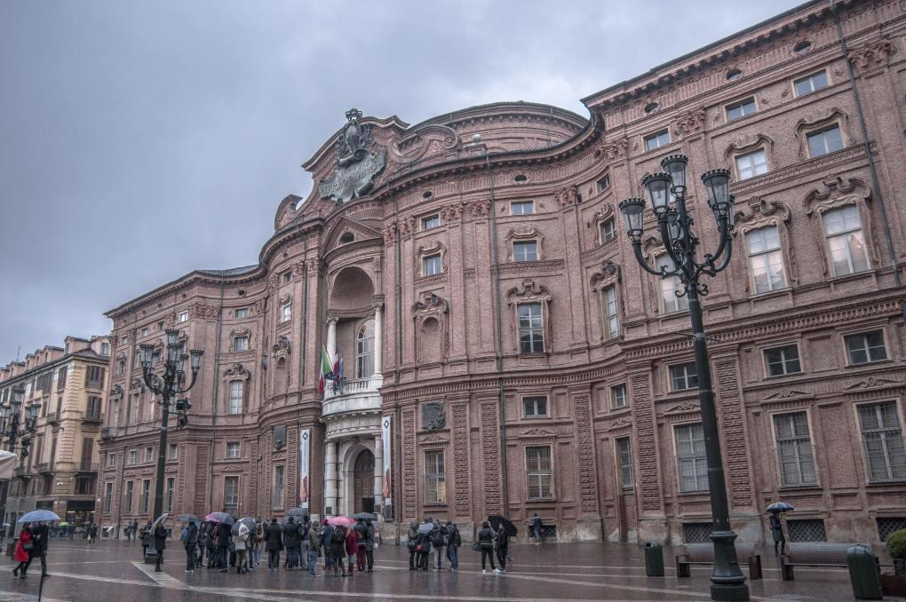 Palazzo Carignano in Turin, Italy as seen in The Italian Job